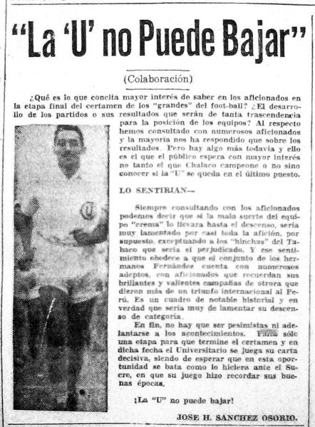 El pedido de la prensa escrita para que no se consumara el descenso crema (Recorte: diario La Prensa)