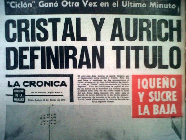 El titular periodístico que anunciaba la final en el Nacional. (Recorte: diario La Crónica)