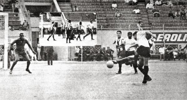 El gol de José Sierra que abrió la cuenta para el Arica en su triunfo sobre Alianza el cual le aseguró su pase a la liguilla (Recorte: diario La Crónica)
