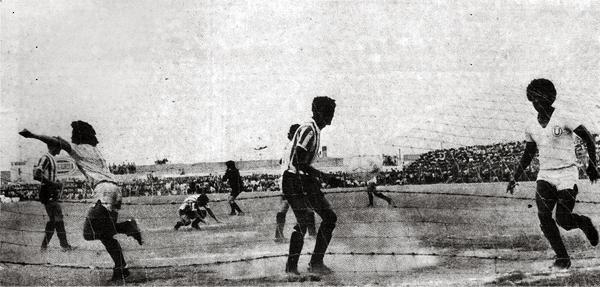 Este gol de Roberto 'Critico' Zevallos silenció el Julio Lores Colán y postergó la vuelta de Unión Huaral: Universitario había empatado el partido a poco del final (Recorte: revista Ovación)