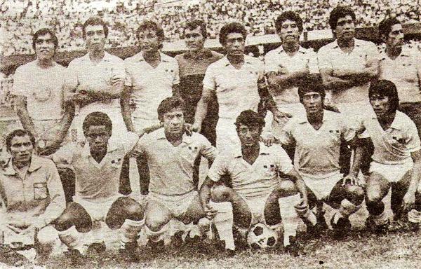 Una formación de Cristal en 1983 con rostros que destacan por sí solos como los de Héctor Chumpitaz, el 'Panadero' Rubén Díaz, Luis Reyna y Pedrito Ruiz (Recorte: revista Ovación)