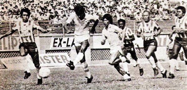 Así marcó Juan Caballero el primero de sus cuatro goles sobre el arco de Juan 'Papelito' Cáceres en el 6-1 que Cristal le encajó a Unión Huaral (Recorte: revista Ovación)