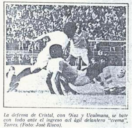 ¿Un Cristal - 'U' en el San Martín solo admitirá imágenes en blanco y negro como esta? (Recorte: diario La Crónica)