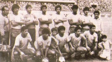 Equipo titular de San Agustín en la campaña 1986. Falta 'Chemo' del Solar (Foto: revista Estadio)