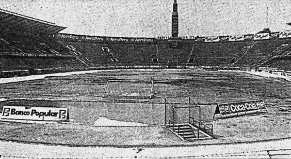 Así lucía el Estadio Nacional poco antes de la fecha pactada para definir al campeón de la temporada 1989 (Recorte: diario El Comercio)
