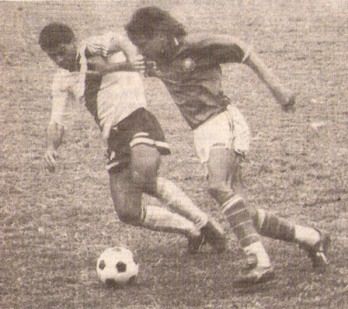 Martín Rodríguez fue el mejor legado de 'Inter' tras su paso por la máxima categoría. Acá, en acción ante Municipal en 1991 (Recorte: diario El Comercio, suplemento Deporte Total)