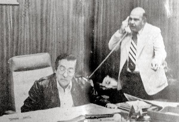 Luis de Souza Ferreira en plena gestión de créditos para los clubes en 1983 en la ADFP  (Foto: revista Flash Deportivo)