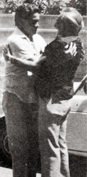 Guillermo Delgado y 'Toto' Terry cuando en 1982 se reencontraron en España (Recorte: revista Ovación)