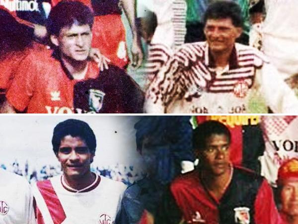 'Calamina' Wilson Ramírez -arriba- y el 'Colibrí' Benjamín Rodriguez -abajo- supieron marcar en los Melgar - UTC con ambas camisetas. (Composición fotográfica: Aldo Ramírez / DeChalaca.com)