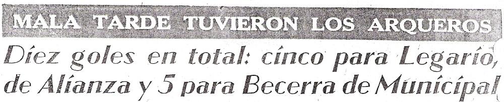 El periodismo de la época no escatimó titulares culpando a los goleros del abultado marcador (Recorte: diario La Crónica)