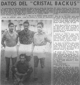 La prensa informaba expectante sobre la incorporación del 'Sporting Cristal Backus' a la máxima categoría (Recorte: La Crónica, 02/08/56 segunda edición p11)