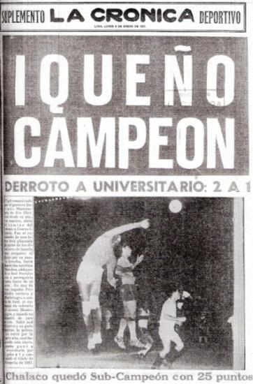 Portada periodística del 7 de enero de 1957, un día después de la gesta gloriosa más importante de la historia alba. (Recorte: diario La Crónica)
