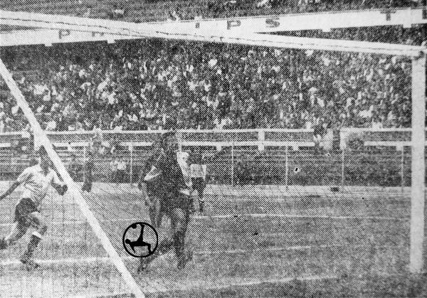 El gol de Javier Cáceres que definió el primer choque entre Boys y KDT (Recorte: diario la Prensa)