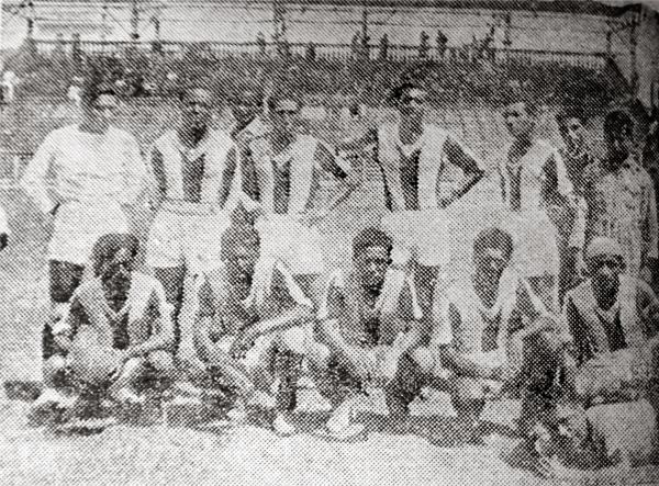 El once del Ciclista Lima que igualó a un gol frente a Progresista Apurímac en el inicio de la Segunda División (Recorte: diario La Crónica)