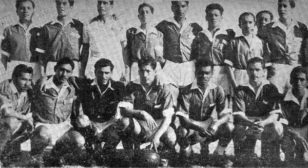 Equipo del Jorge Chávez Callao que acabó siendo el nuevo inquilino de la máxima categoría en 1948 (Recorte: revista Sport)
