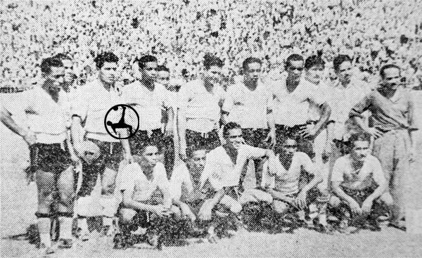 El equipo titular de Association Chorrillos el día que venció a Lusitania para subir a Primera (Recorte: diario La Crónica)