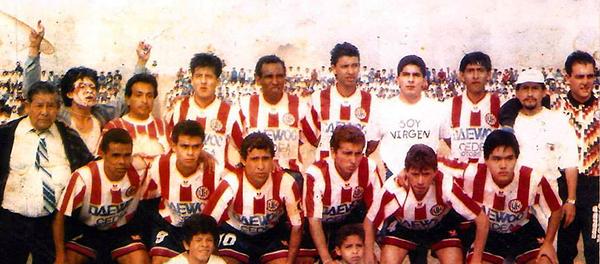 Con el contexto noventero a flor de piel, Unión Huaral logró el título de la Segunda División 1994. Gallardo era el DT. (Foto: Facebook)