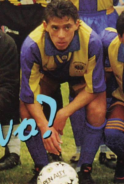 Una de las apariciones más gratas que exhibió Guardia Republicana: Miguel Rebosio. El 'Conejo' se consagró campeón de la Segunda en 1995 (Recorte: revista Once)