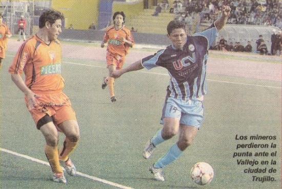 Atlético Minero perdió, en este partido ante Vallejo en 2007, un invicto más prolongado que el de Cobresol (Recorte: semanario La Segunda)