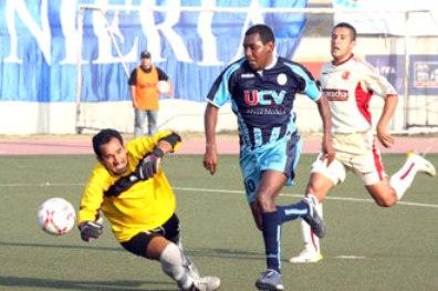 El 'Pompo' Cordero, como en todo el certamen, fue figura ante los cajamarquinos y anotó un gol (Foto: diario Correo de Trujillo)