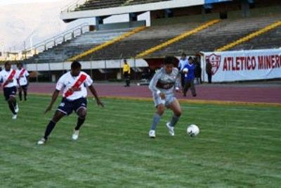 Con el estadio Huancayo vacío, Inti Gas no tuvo problemas para controlar al Águila (Foto: diario Correo de Ayacucho)
