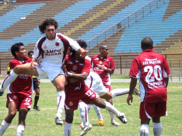 CON SU PERMISO. San Marcos desplazó a Aviación del quinto lugar de la tabla con la victoria (Foto: Prensa Segunda División)