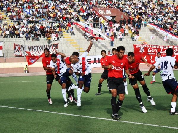 FECHA 08. Con un solitario gol de Janio Posito, Gálvez derrotó 1-0 a 'U' de América en el Manuel Rivera Sánchez. (Foto: Diario de Chimbote)