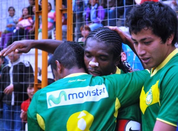SE CERRÓ EL SHOW. Carrillo puso el tercero para Sport Ancash y terminó por asegurar el triunfo de su elenco. (Foto: Miguel Guimaray)