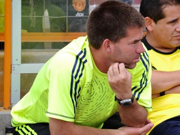 VERDE ESPERANZA. Fabricio Melgar esperaba llevarse una victoria para que Gálvez no se siga alejando en la punta de la liguilla. (Foto: Miguel Guimaray)