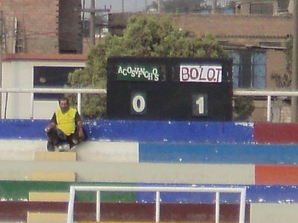 ¿QUÉ SE PUEDE DECIR? Así lució el tablero del estadio Municipal Solís García. (Foto: Aldo Ramírez / DeChalaca.com)