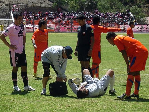 LA JOYITA: Durante casi todo el partido el paraguayo Carlos Pérez batalló contra la defensa de Minero y recién al final fue que la suerte le sonrió para batir a Manuel Riofrío (Foto: Aldo Ramírez / DeChalaca.com)