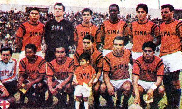 Deportivo SIMA (Cromo: álbum Ídolos 1969, Importadores Peruanos)