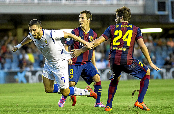 Barcelona B se impuso 4-1 al Zaragoza (Foto: diario AS)
