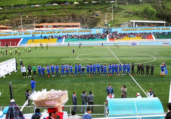 Más allá de que Deportivo Hualgayoc sucumbió ante UTC, tuvo una presentación a lo grande con su público. (Foto: Pulso Deportivo Bambamarca)