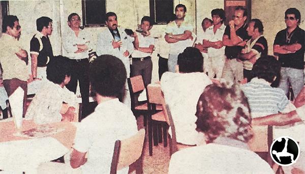 Marcos Calderón regresó a Boys en 1984. Había expectativa entre los rosados. (Recorte: diario La Crónica)