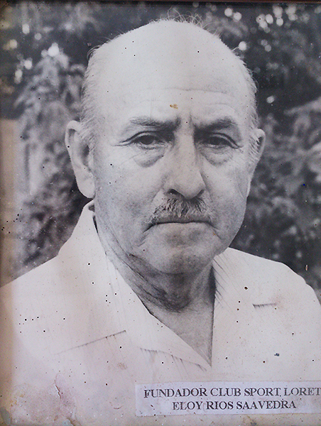 Eloy Ríos, uno de los fundadores de Sport Loreto (Foto: archivo Augusto Rengifo)