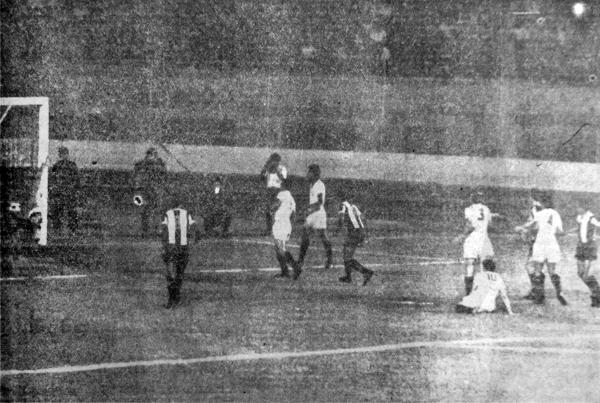 El gol de Alianza anotado por Héctor Valle, una conquista que al final de nada le sirvió a los íntimos (Recorte: diario La Crónica)