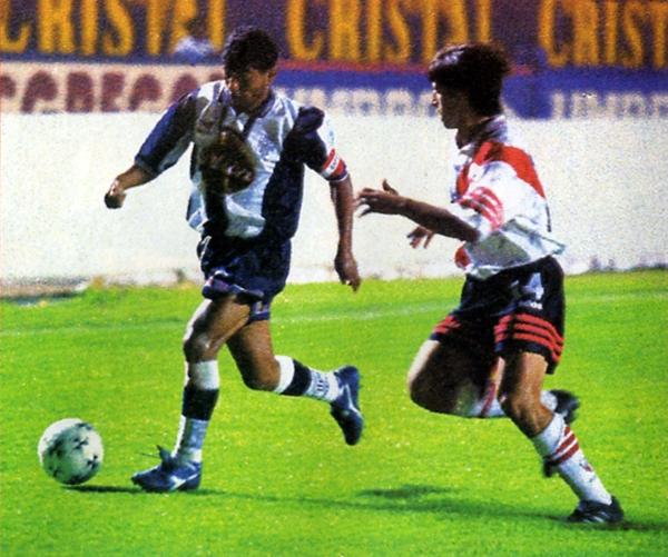 Hasta antes de la actual edición, uno de los últimos encuentros que Alianza jugó en el estadio Nacional fue el que empató 1-1 ante River Plate en la edición de 1998 (Recorte: revista Don Balón Perú)