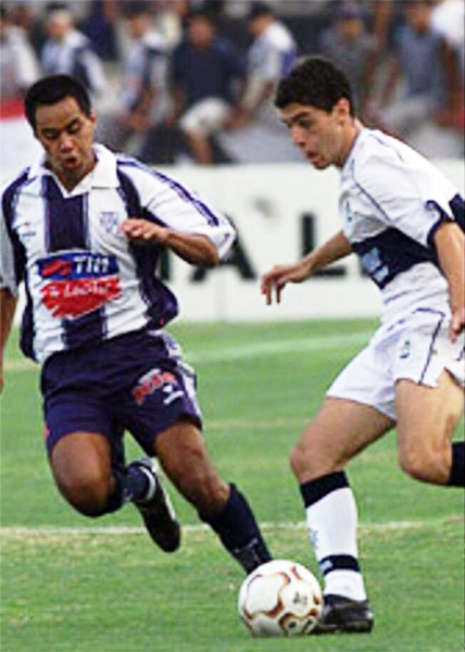 Gimnasia y Esgrima de La Plata tuvo un paso por el Perú cuando enfrentó a Alianza por la Libertadores de 2003 (Foto: historialblanquiazul.com)