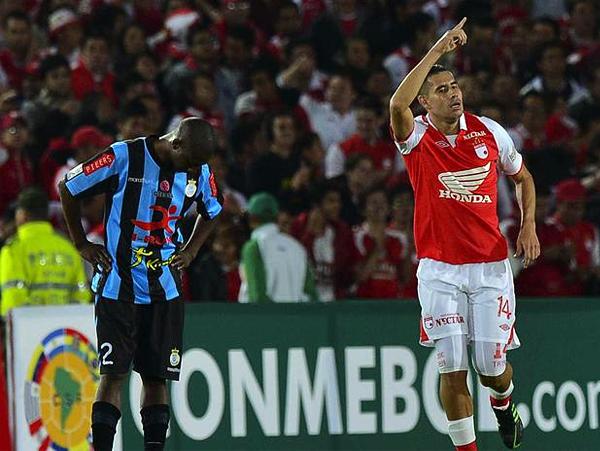 John Jairo Valencia sentenció el partido con un tanto en el que aprovechó el mal despeje de la defensa de Real Garcilaso (Foto: AFP)