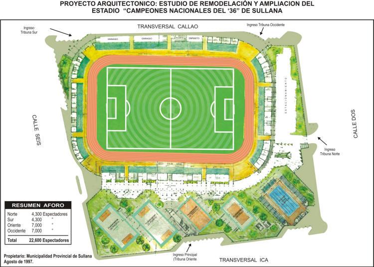 Maqueta del proyecto de modernización del Campeones del '36 de Sullana. ¿Algún día será realidad? (Imagen: diario El Regional Piura)