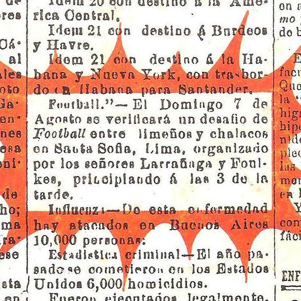 Así empezó todo, con este anuncio publicado en el diario El Callao el 3 de agosto de 1892 (Recorte: Historia del Fútbol Peruano, Reco Borodi)