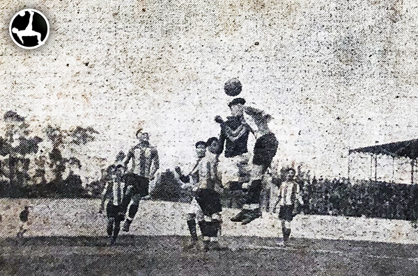 La tercera parada de Deportes Santiago en Lima también fue con derrota: otro 5-2, ahora a manos de Sport Progreso. (Recorte: diario La Crónica)