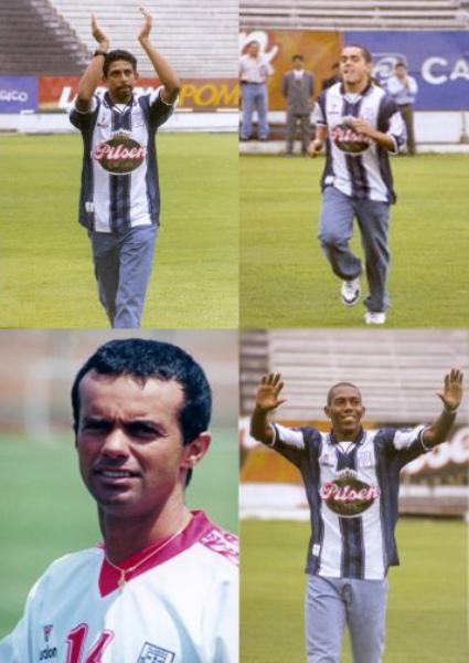 José Soto, Marko Ciurlizza, Palhinha y Eduardo esidio, los peso pesados de la campaña 2001 de Alianza Lima, en el año de su centenario (Foto: peru.com)