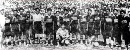 Selección de Sullana campeona nacional de 1936, formada por una base mixta de los enconados rivales Alianza Atlético y Jorge Chávez. (Foto: alianzaatleticosullana.blogspot.com)