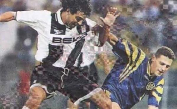 'Chemo' del Solar en acción con Besiktas en la temporada 1998/99. (Foto: Gündem Besiktas)