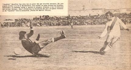 La gran definición de 'Cachito' ante Jiménez para marcar el gol de la victoria peruana (Foto: revista Ovación)