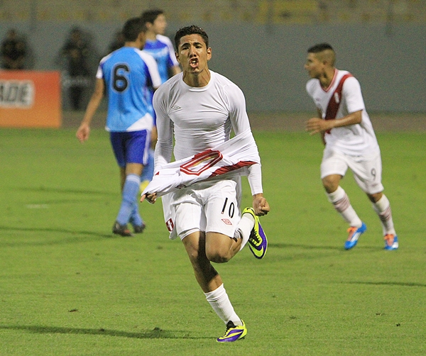 Los Juegos Bolivarianos le permitieron a Sergio Peña tomar un rol protagónico dentro de la selección peruana de Daniel Ahmed (Foto: diario La Industria de Trujillo)