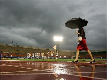 No faltarán quienes culpen de la derrota peruana al aguacero que cayó sobre la cancha de Changwon (Foto: FIFA.com)