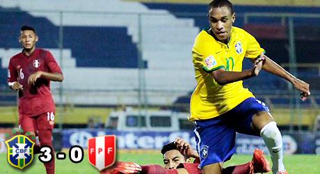 Brasil, Perú, Leandro, Sub17, Ynamine, goleada